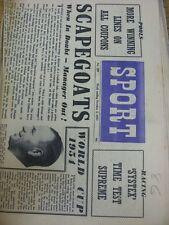 03/10/1953 GIORNALE Lo Sport: Vol.15, No.299 - Doncaster Rovers Squadra GRUPPO [ANTERIORE