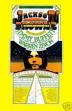 Take It Easy: Jackson Browne & Jimmy Buffett San Jose Civic Poster 1978 12x18