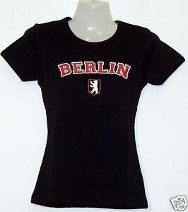 Girlie T-Shirt * Berlin mit Logo Schwarz S - XL