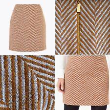 🌟Marks & Spencer Collection Wool Blend Tan & Grey Skirt Size 14 Regular Womens