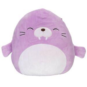 "Squishmallows 12"" Winnie the Walrus Purple Stuffed Animal Plush"