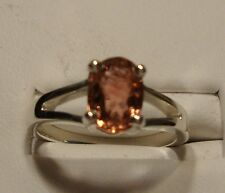 NEW Pink Tourmaline Ring 1.30ct .925 Sterling Silver Size 6
