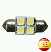 2X BOMBILLAS LED C5W 36MM FESTOON 4 LED 5050 BLANCO XENON COCHE MATRICULA