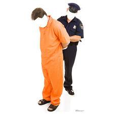 PRISONER & POLICEMAN STAND-IN Lifesize CARDBOARD CUTOUT Standin Standup Standee