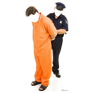 PRISONER & POLICEMAN STAND-IN Lifesize CARDBOARD CUTOUT Standin Standup Standee