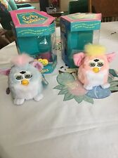 TIGER ELECTRONICS 1999 Furby Babies Baby  Pink And Blue W/ Boxs
