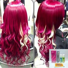 Berina A24 and Bleacher Hair Color Cream, Pink Magenta, Permanant Super Hair Dye