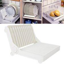 PIASTRA in plastica pieghevole dish rack drainer a secco Storage Organizzatore Titolare Cucina UK