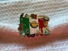 Hard Rock Cafe Pin Venice Iconic Flag Series - Flag of Italy w Local Icons