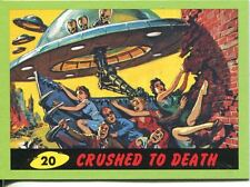 Mars Attacks Heritage Green Parallel Base Card #20    Crushed to Death