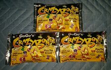 "LOT OF 3 > Crazy Bones GoGos The 1996 ""ORIGINAL"" ☆SERIES 1☆ UNOPENED FOIL PACK☆"