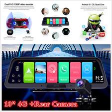 "Touch Screen HD 10"" 4G WiFi Android GPS Dual Lens Car DVR Dash Cam +Rear Camera"