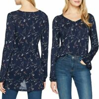 NEW  RRP £42 Fat Face Amelie Starling Floral Longline Top                  (111)
