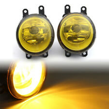 Left+Right Front Fog Light Lamp Yellow Len with H11 Bulb For Toyota Tacoma Lexus