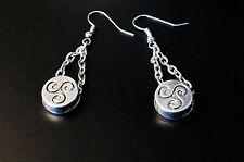 BDSM symbol triskele emblem earrings submissive slave dominant fetish woman gift