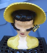 YELLOW VALERIE 6 1/2 inches by BETTY LOU NICHOLS HEAD VASE headvase