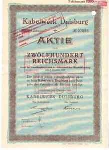 Kabelwerl Duisburg  1924