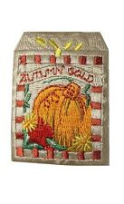 #4499 Autumn/Fall Barn w/Autumn Gold Word Embroidery Iron On Applique Patch