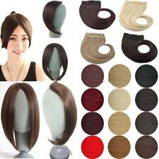 100% Thick Long Side Fringe Bangs Clip In Hair Extensions Brown Blonde Black n21