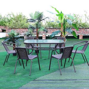 Parasol Bistro Outdoor Garden Dining Table & Chairs Set Indoor Patio Furniture