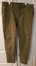 Women's LIVERPOOL Ankle Pants Olive Green Size 12/31 Petite