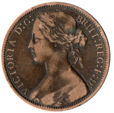 More details for 1874 one penny of queen victoria /heaton mint /very fine details  #jan105