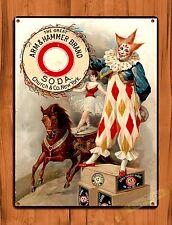 """Arm And Hammer""  Clown Nursery Ad Vintage Retro Art Wall Decor TIN SIGN"
