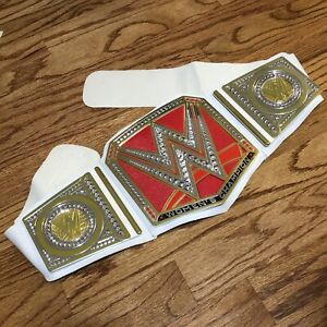 WWE Womens Champion Belt Title Replica Toy Adjustable 2014 Mattel White Red Gold