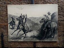 "Will James - 1928 Original Western Illustration Art Red Book Magazine 20"" x 14"""