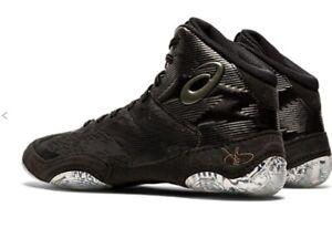 Asics JB Elite IV Wrestling Shoes Black/Gunmetal 1081A016.002 NEW