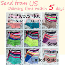 10 Pieces/Lot Plus Size Women's Fashion Sexy Lady Lace Panty Breathable Briefs