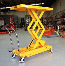 700kg Hydraulic Scissor Lift Table/Trolley Max Table Height 1500mm