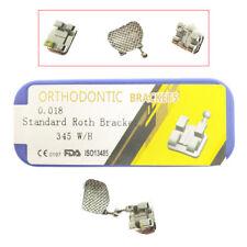 1kit Dental orthodontic Bracket Braces Standard Roth 018 braces  20pcs 345hook