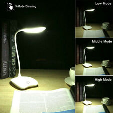 Adjustable LED Desk Bedside Reading Lamp Table Study Light 3 Modes Touch Control
