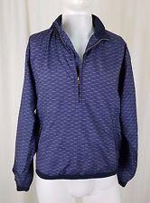 Sunice Golf 1/4 Zip Lightweight Blue Pullover Windbreaker Rain Jacket Mens S