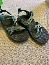 Chaco Youth Kids Size 3 Multi Color Sport Sandals Pre Owned