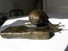 fine art limited edition bronze wildlife sculpture snail animalier animal statue
