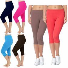 New Womens Capri Pants Workout Fitness Sports 3/4 Leggings 12-30