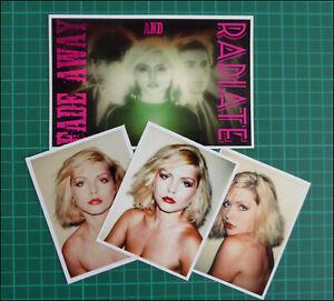 BLONDIE, Debbie Harry, 4 x Exclusive Glossy Vinyl Stickers, Fade Away & Radiate