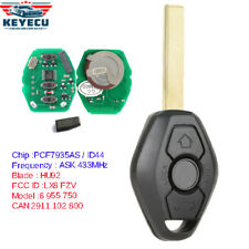 Rechargeable Battery Remote Key Fob 433MHz ID44 for BMW 3 5 7 Series X3 X5 HU92