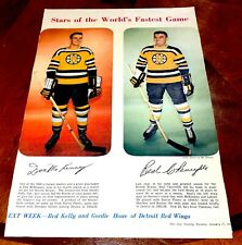 1957-58 Toronto Star Weekly McKenny / Chevrifils Boston Bruins