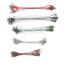 Pack 100 WIRE SPINNING TRACES LEADER, SEA FISHING TACKLE, SPINNER LURE TRACE