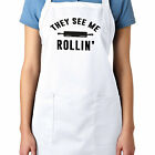 They See Me Rollin Rolling Pin Baker Baking Cooking Full Length Apron Pockets