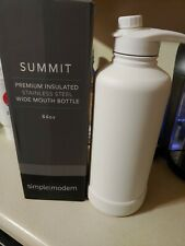 Simple Modern 84 oz Summit Water Bottle Insulated Stainless Wide Mouth..White