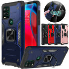 For Motorola Moto G Stylus 5G 2021 Case Ring Stand Cover+Glass Screen Protector