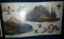 Thomas Kinkade Peaceful Cabin Hideaways Imperial Instant Stencils Rub On 2Packs