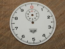 Heuer Shockprotected 45mm Watch Dial for Pocket Watches Vintage White Stop Watch