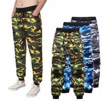 Men's Camo Trousers Tracksuit Jogging Jogger Casual Sweatpants Bottoms Pants NEW