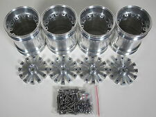 4pcs Aluminum Wheel Rim Tamiya RC 1/10 Clodbuster Bullhead TXT-1 Juggernaut 1 2
