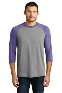 New Men's District Perfect Tri 3/4 Sleeve Raglan Baseball Soft Nice T-Shirt